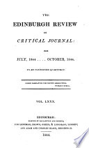 THE EDINBURGH REVIEW OR CRITICAL JOURNAL FOR JULY  1844    OCTOBER  1844