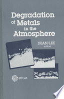 Degradation of Metals in the Atmosphere