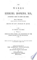 Memoir of the author, and expositions of the Lord's prayer and the decalogue