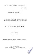 Report of the Connecticut Agricultural Experiment Station  New Haven  Conn  for the Year