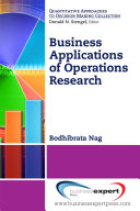 Business Applications Of Operations Research