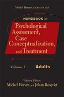 Handbook of Psychological Assessment  Case Conceptualization  and Treatment  2 Volume Set Book