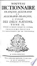 Contenant Le Fran Ois Expliqu Par L Allemand