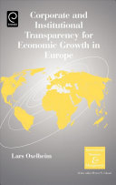 Corporate and Institutional Transparency for Economic Growth in Europe
