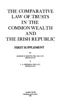 The Comparative Law Of Trusts In The Commonwealth And The Irish Republic