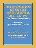 The Evolution of Soviet Operational Art, 1927-1991 Pdf/ePub eBook