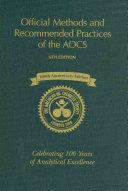 Official Methods and Recommended Practices of the AOCS