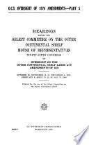 O C S  Oversight of 1978 Amendments Book