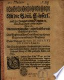 An die Röm. Kays. Maj. allerunterthänigstes Bitten der Augspurgischen Confession zugethanen Rahtsverwandten zu Augspurg ... (Oct. 1630)