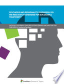 Psychosis and Personality Disorders  Do We Need Early Diagnosis for Successful Treatment  Book