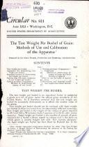 The Test Weight Per Bushel of Grain