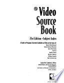 Video Source Book