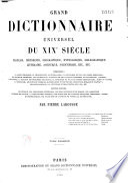 Grand dictionnaire universel du XIXe. siècle