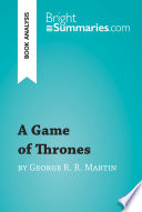 A Game of Thrones by George R  R  Martin  Book Analysis