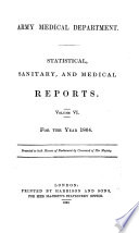 Statistical  Sanitary  and Medical Reports for the Year    Book