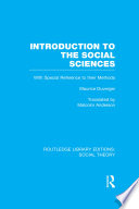 Introduction to the Social Sciences (RLE Social Theory)
