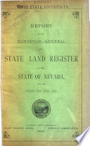 Report of the Surveyor General and State Land Register of the State of Nevada Book PDF