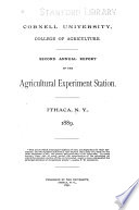 Report of the Cornell University Agricultural Experiment Station Book