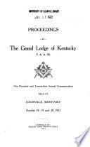 Proceedings of the Grand Lodge of Kentucky ...