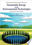 Proceedings of the Third Asia Pacific Conference on Sustainable Energy and Environmental Technologies  Hong Kong  3 6 December 2000 Book