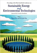 Proceedings of the Third Asia-Pacific Conference on Sustainable Energy and Environmental Technologies, Hong Kong, 3-6 December 2000