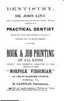 The History of Norfolk  Virginia