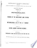 Scientific Reports: Meteorology. 1929-47
