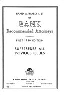 Rand Mcnally List Of Bank Recommended Attorneys