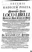 Securis ad radicem posita  oder gr  ndtlicher Bericht loco libelli  worin der Stadt C  llen am Rhein Ursprung und Erbawung kl  r  und umbst  ndlich vorgestellt     ist  etc