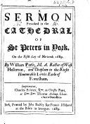Pdf A Sermon preached ... on the fifth day of Novem. 1689