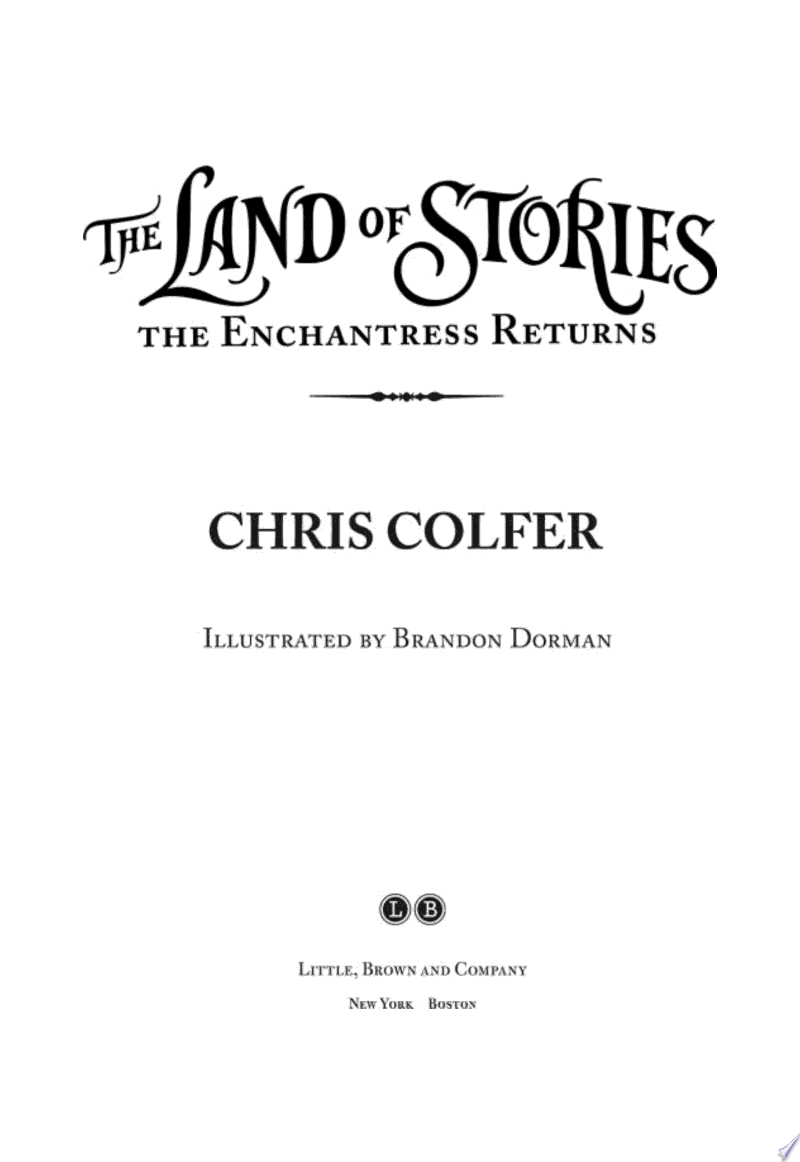 The Land of Stories: The Enchantress Returns banner backdrop