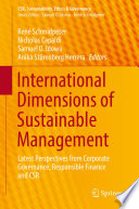 International Dimensions of Sustainable Management