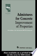 Admixtures for Concrete   Improvement of Properties