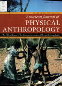 American Journal of Physical Anthropology Book