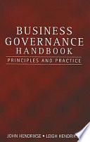 Business Governance Handbook Book