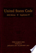 United States Code 2006 Edition Supplement IV