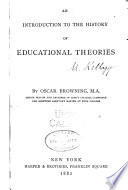 An Introduction to the History of Educational Theories Book