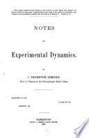 Notes on Experimental Dynamics