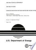 Corrosion Inhibitors for Solar Heating and Cooling Systems Book
