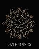 Sacred Geometry  Golden Snow Shield Mandala Art Journal Cover  Cornell Lined Notebook   Geometric Design for Yoga  Meditation  Dream Di