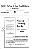 The Vertical File Service Catalog