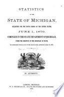 Census and Statistics of the State of Michigan ...