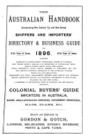 The Australian Handbook  incorporating New Zealand  Fiji  and New Guinea  and Shippers  and Importers  Directory