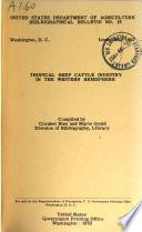 Tropical Beef Cattle Industry in the Western Hemisphere