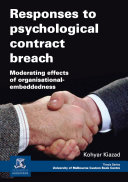 Responses to Psychological Contract Breach ebook