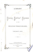 Library For The Young Ladies Lyceum Of The Wesleyan Female College Cincinnati Ohio