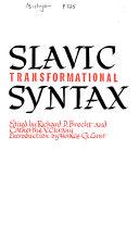 Slavic Transformational Syntax