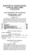 Mckinney S Consolidated Laws Of New York Annotated