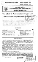 The Effect of Pasteurization on Some Constituents and Properties of Goat s Milk