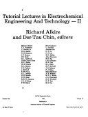 Tutorial Lectures in Electrochemical Engineering and Technology   II